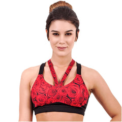 Flexmee 902005 Luxury Roses Sublimated Sport Racerback Bra | Microfiber - Shapes Secrets