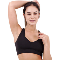 FLEXMEE 902008 Luxury Sport Active Criss Cross Bra | Supplex 360 - Shapes Secrets