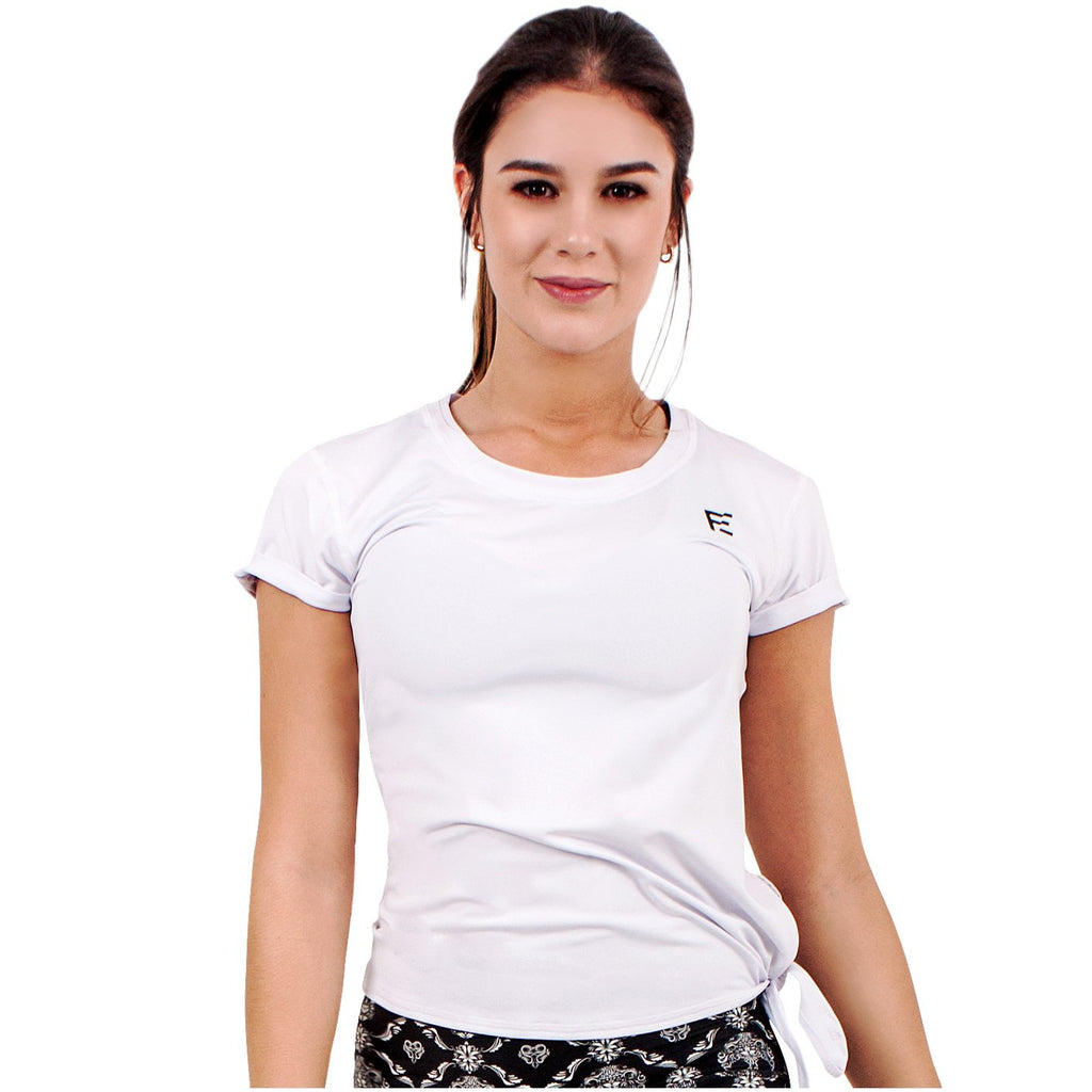 FLEXMEE 930002 Luxury Sport Active T-Shirt With Side Knot | Microfiber - Shapes Secrets