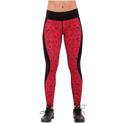 FLEXMEE 946070 Luxury Roses Sublimated Active Leggings | Polyamide - Shapes Secrets