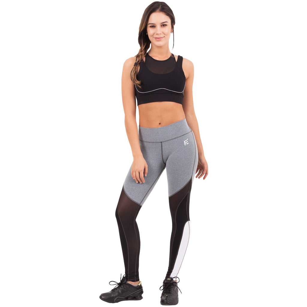FLEXMEE 946073 Waves Mid Rise Sport Leggings | Supplex 360 - Shapes Secrets