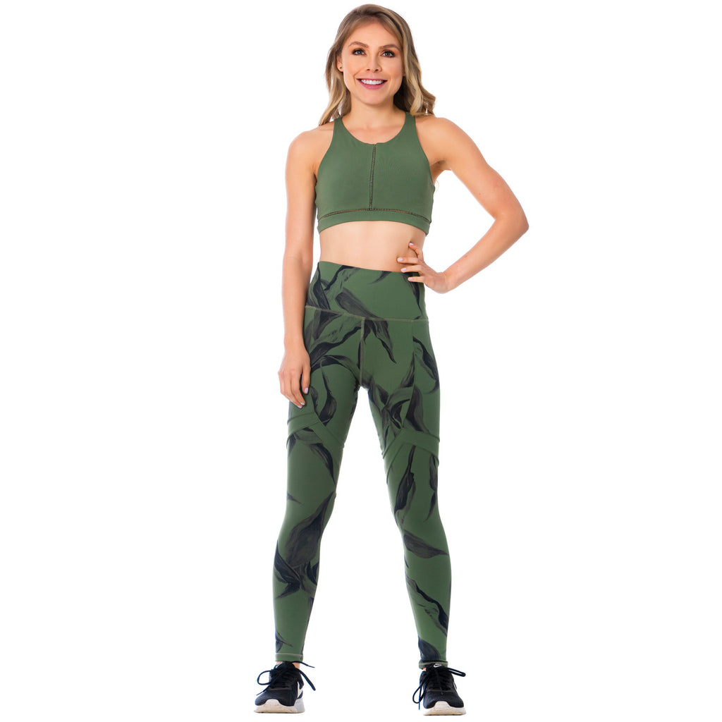 FLEXMEE Sportwear-Legging 946169 2020-1 Spring Summer Collection Color Moss