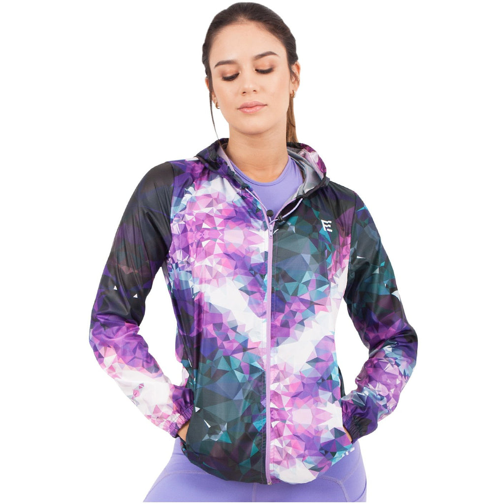 FLEXMEE 982000 Sublimated Fractals Winbreaker With Hood | Polyester - Shapes Secrets