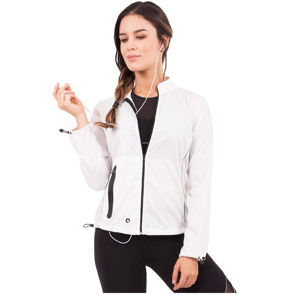 FLEXMEE 982002 Waves Athleisure Windbreaker With Pocket | Polyester - Shapes Secrets