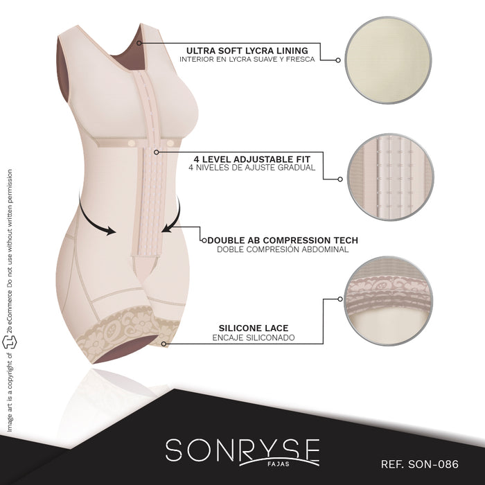 Fajas Sonryse 086 | Tummy Control Shapewear for Women Post Surgery | Postpartum Colombian Girdle | Daily Use