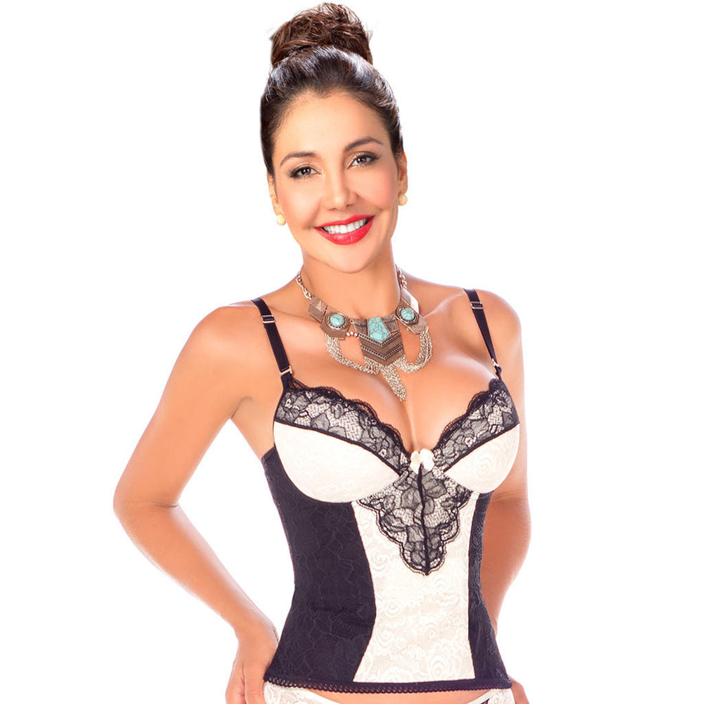 Lowla 009 |  Women Corset Lingerie With Lace Push Up