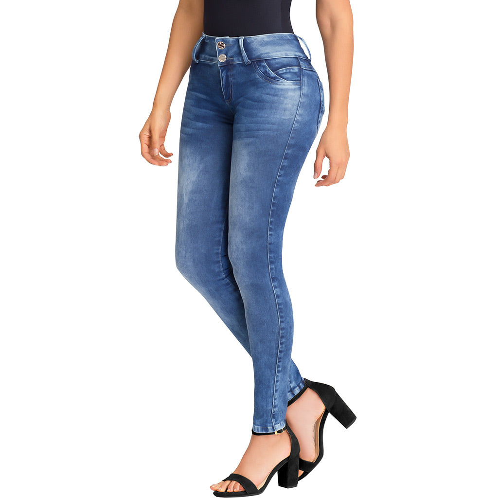 Lowla JE219763 | Butt Lifting High Waisted Skinny Jeans with Removable Pads