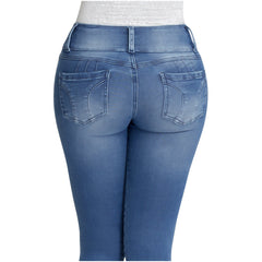 Lowla 219938 | High Waisted Butt Lifting Pre Washed Skinny Jeans