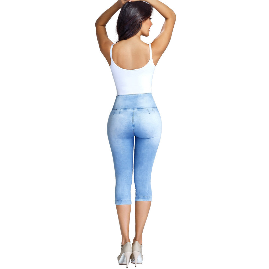 Lowla 239257 | Colombian Butt Lifter Skinny Capri Jeans with Inner Girdle