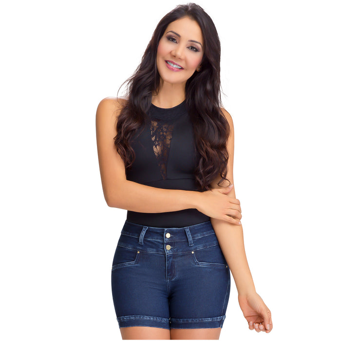 Lowla 239717 | Women Jean Butt Lifting Shorts with Inner Girdle