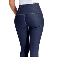 LOWLA 217205 | High Waisted Skinny Jeans for Women with Inner Girdle