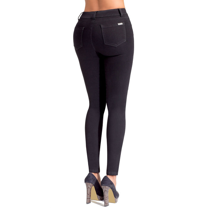 LOWLA 218300 | High Waisted Skinny Jeans for Women with Inner Girdle