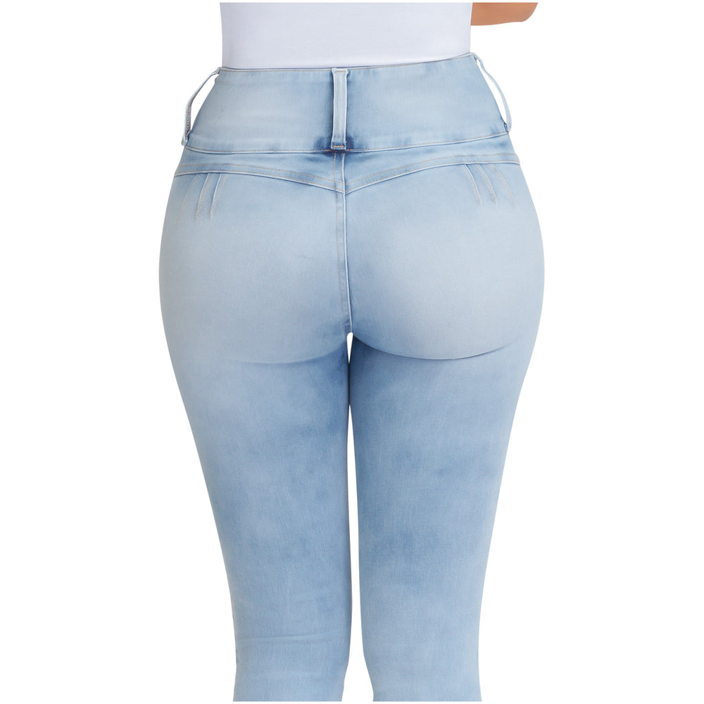 Lowla - JE219764 | Butt Lifting Tummy Control Jeans with Inner Girdle