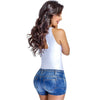 Short Levanta Cola con Faja Lowla 238478 Denim Compression Shorts
