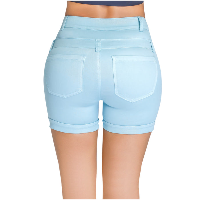 Lowla 238847 | Butt Lifting Denim Shorts with Inner Girdle
