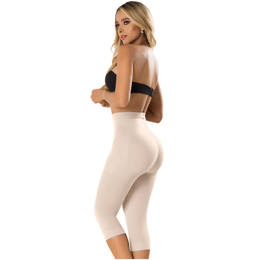 Fajas Laty Rose 21993 | Butt Lifting High Waist Shaping Shorts | Capri Shapewear Push Up Pants