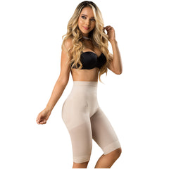 Fajas Laty Rose 21995 | Butt Lifting High Waist Shaping Shorts | Knee-Length Shapewear Push Up Pants