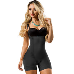Fajas Laty Rose 21111 | Open Bust Mid Thigh Butt Lifters Colombian Shapewear for Women | Everyday Use & Postpartum Girdle