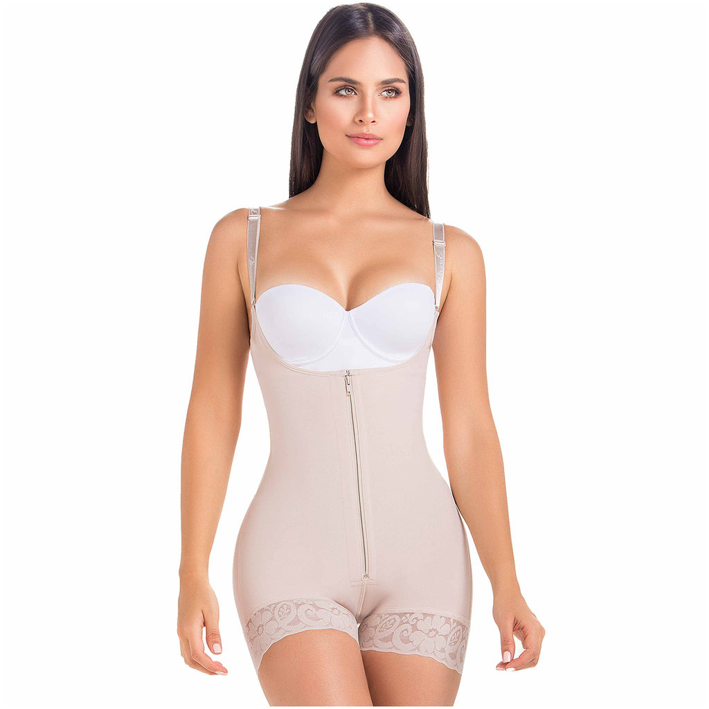 Fajas MariaE 9235 | Colombian Body Shaper | Butt Lifting Postpartum Girdle Shapewear for Women | Open Bust for Daily Use