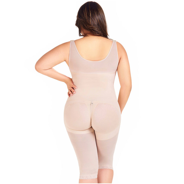 Fajas MariaE 9382 | Colombian Postpartum Body Shaper | After Pregnancy Girdle | Womens Shapewear with Open Bust & Knee Length