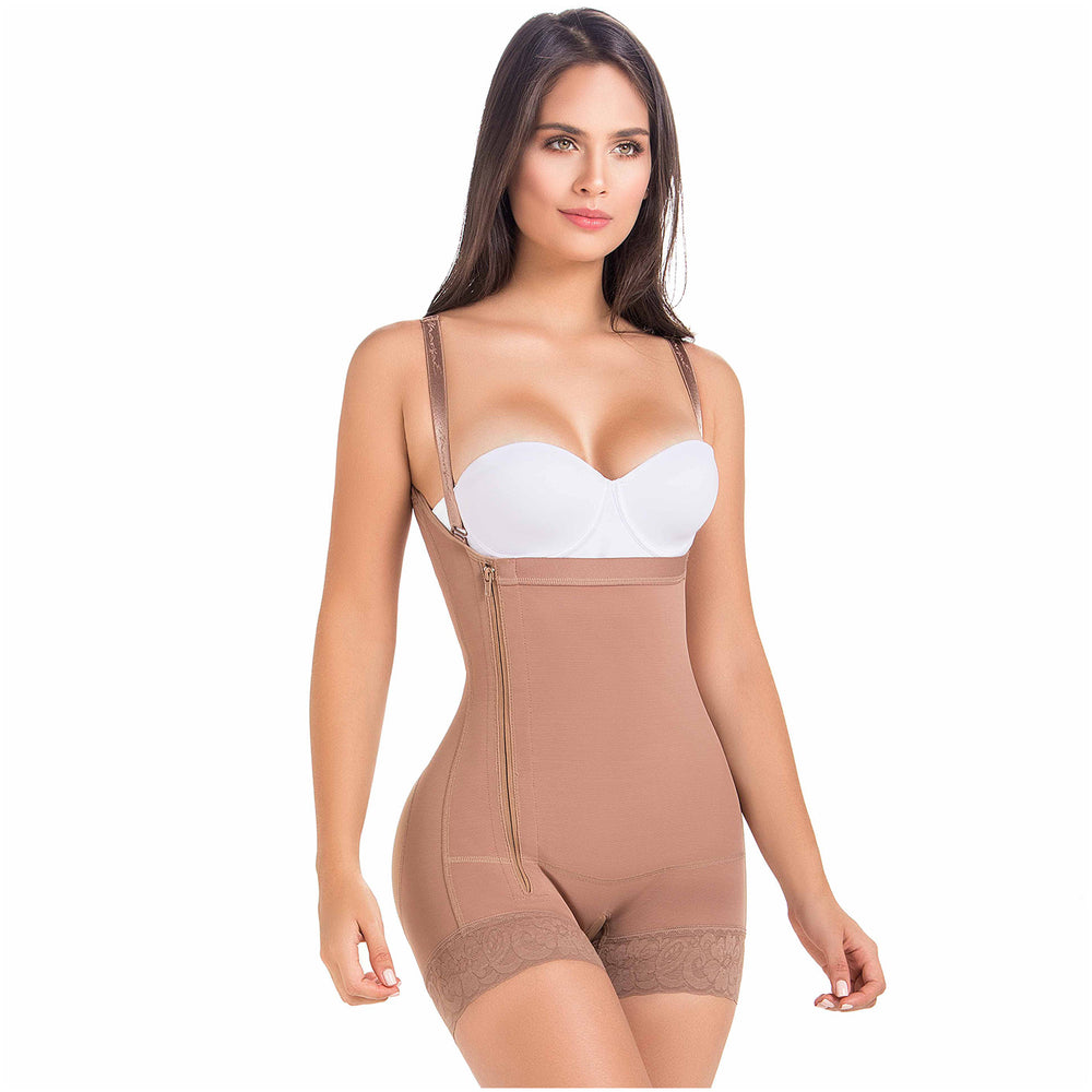 MARÍAE 9633 Butt Lifter High-Waisted Shapewear With Sided Zipper