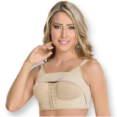 Fajas MYD 0018 | Women's Post Surgical Bra with Implant Stabilizer - Shapes Secrets