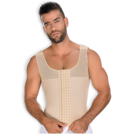 Fajas MYD CH062 | Mens Stomach Girdle Post Surgical Compression Vest