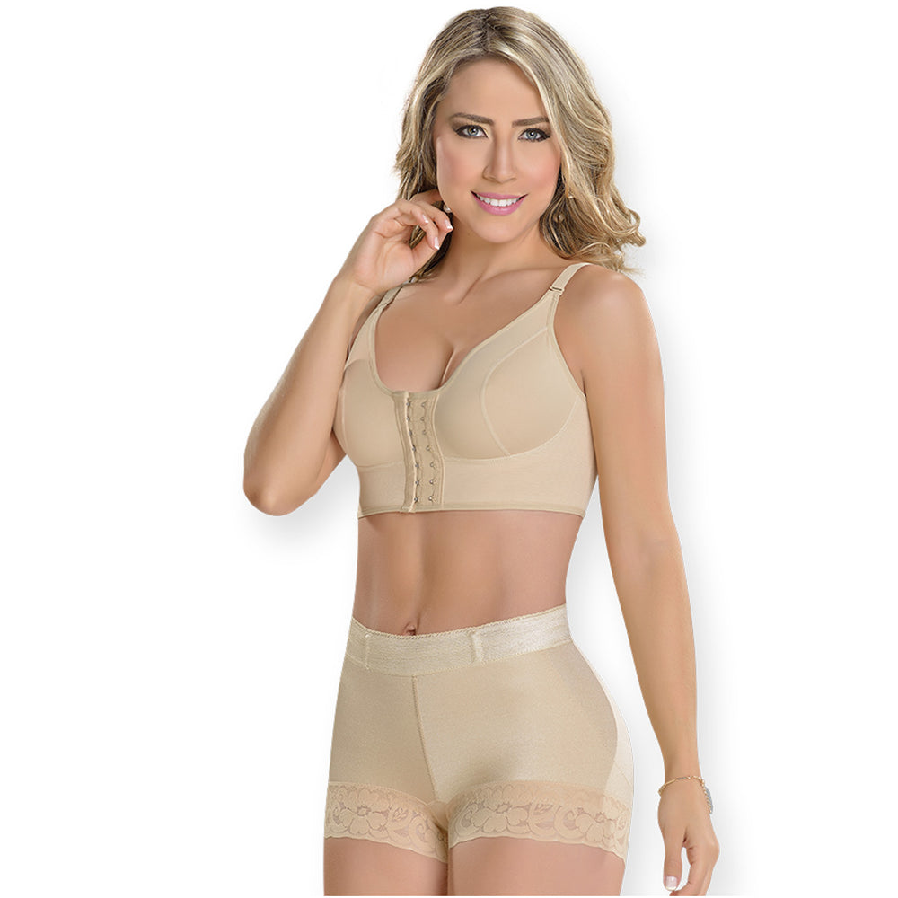 Fajas MYD S0211 | Rear Lifting Mid Rise Shapewear Shorts - Shapes Secrets
