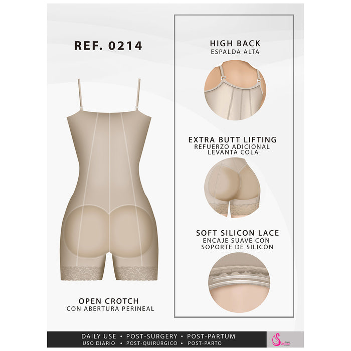 Fajas Salome 0214 | Colombian Fajas Mid Thigh Strapless Body Shaper for  Dresses | Tummy Control & Butt Lifting Shapewear for Dress