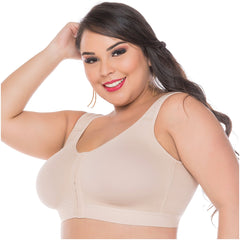 Fajas Salome 0312 | Post Surgical Bra Front Closure - Shapes Secrets