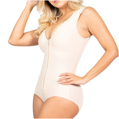 Fajas Sonryse 055ZF | Postpartum Shapewear Bodysuit with Built-in Bra | Everyday Use