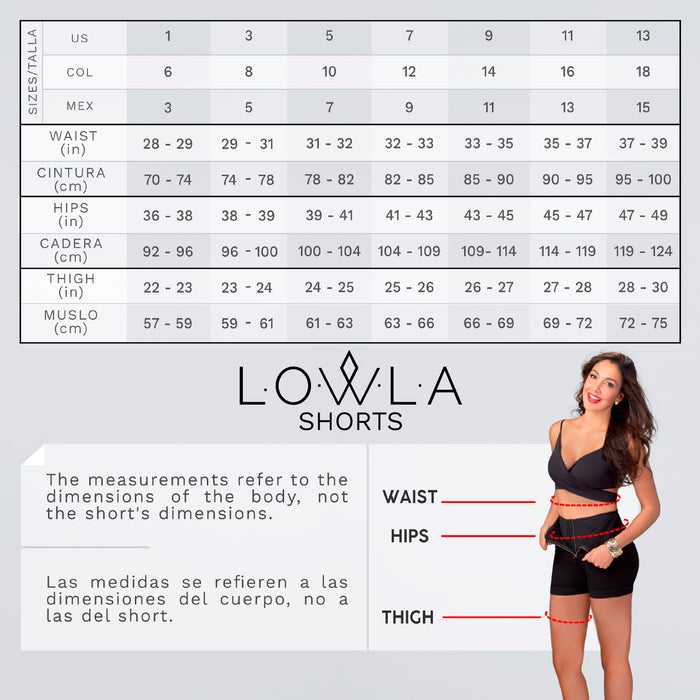 Lowla 238000 | Denim Compression Shorts