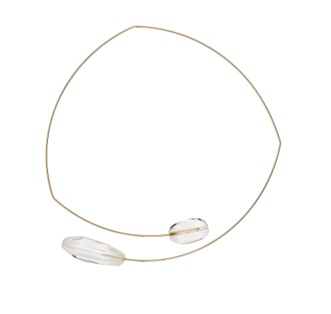 MA-SQUARE ASYMMETRIC NECK WIRE WITH ROCK CRYSTAL