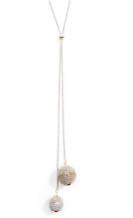 ZZ-N2220 Ombre Adjustable Lariat Necklace