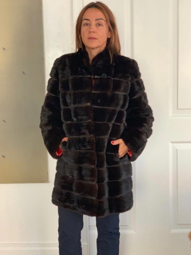OO-Mink tiered coat