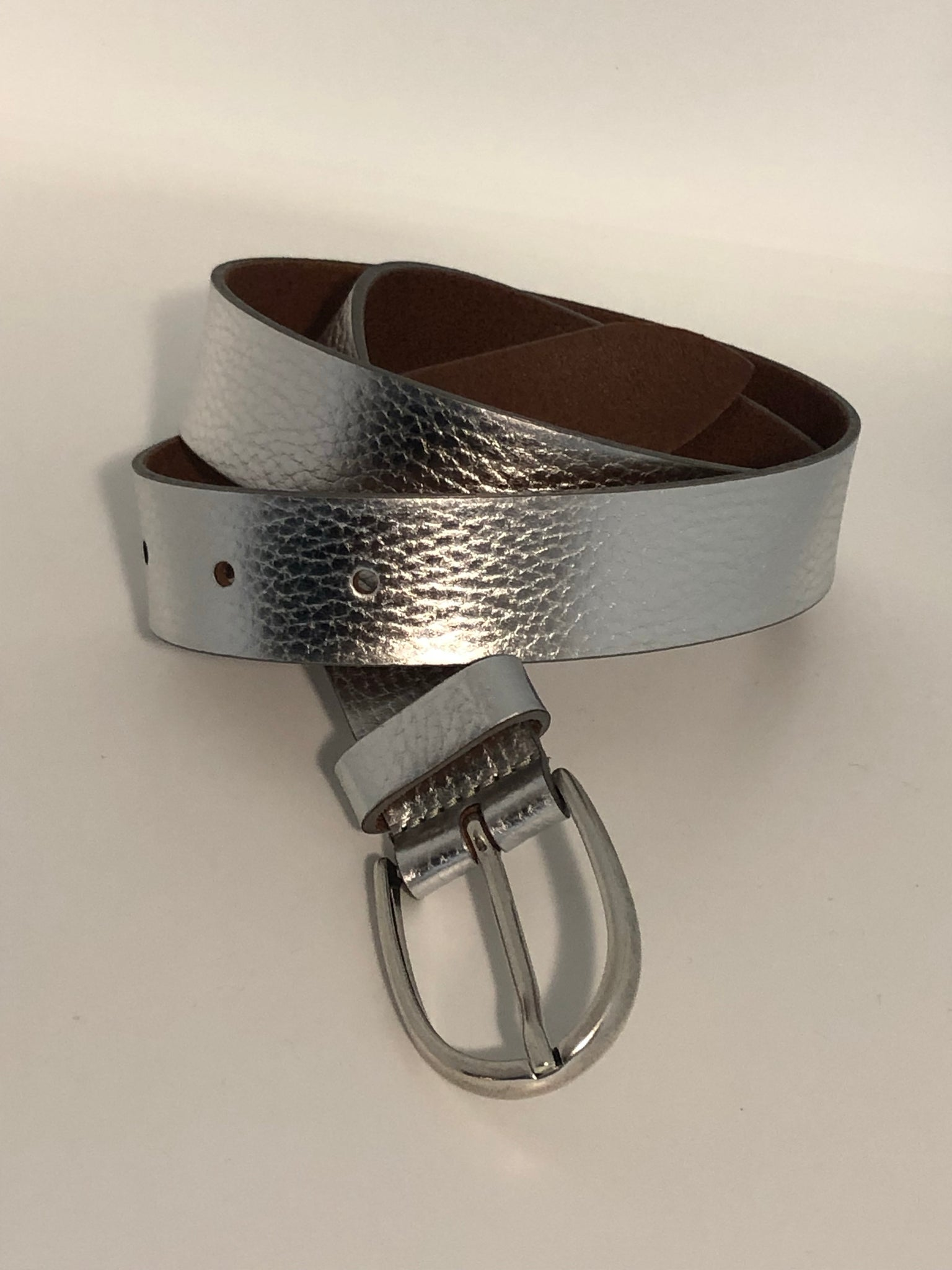 VZ-5269 Silver Leather Belt