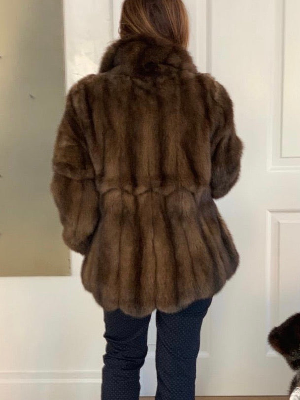 OO-Dark brown Mink jkt