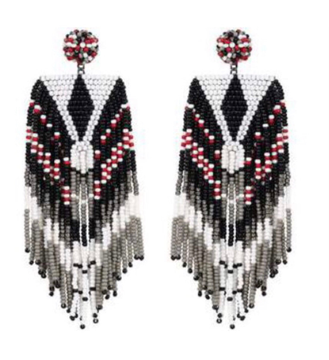 DG-ER4251 Beaded Indian Earrings