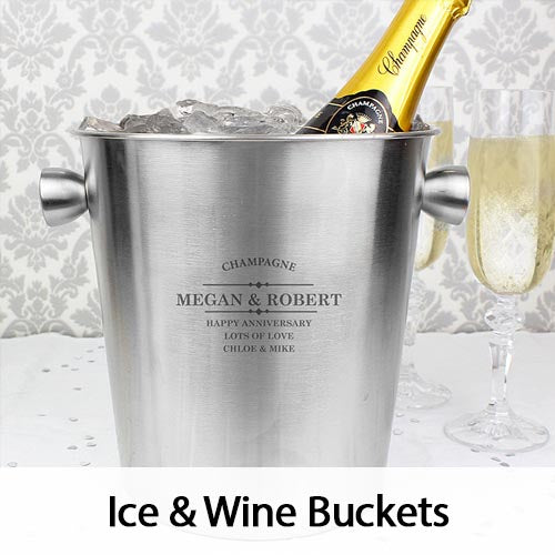 Personalised Ince & Wine Buckets