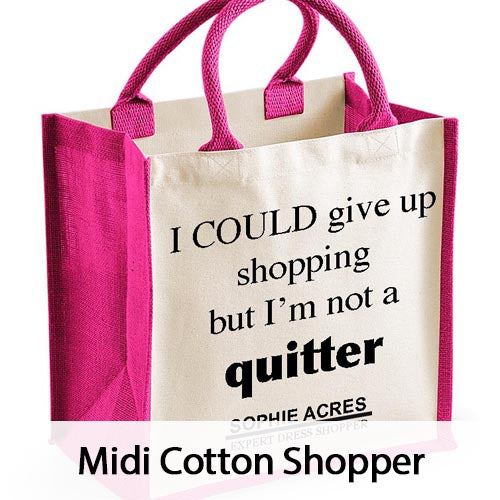 Personalised Midi Cotton Shopper Bags
