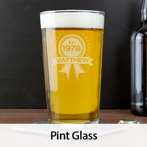 Personalised Pin Glass