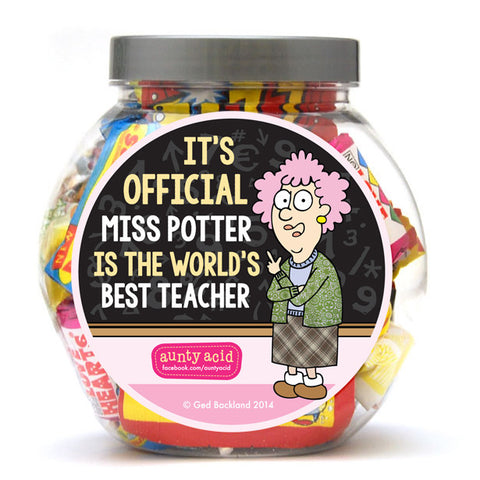 Aunty Acid Best Teacher Sweet Jar