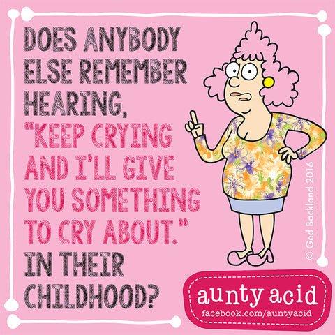 Aunty Acid Childhood Fridge Magnet