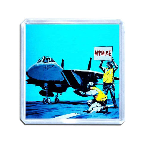 Banksy Aircraft Carrier Applause Magnet