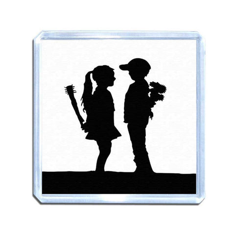 Banksy Boy Meets Girl Magnet