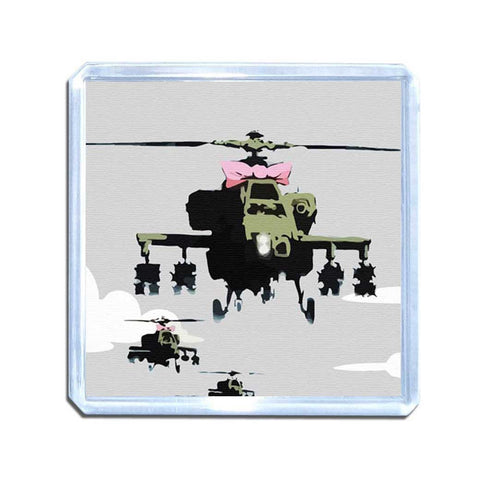 Banksy Friendly Helicopters Magnet