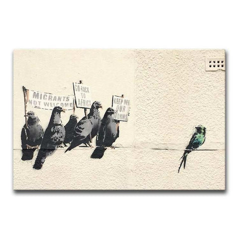 Banksy Anti-Immigration Birds Print