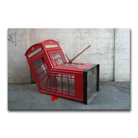 Banksy Death of a Phone Booth Print