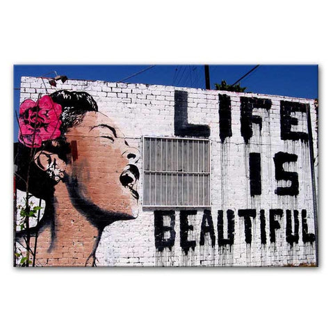 Banksy Life is Beautiful Print