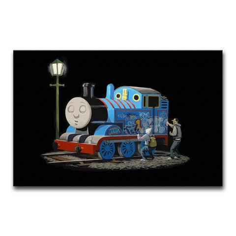 Banksy Thomas the Tank Engine Print